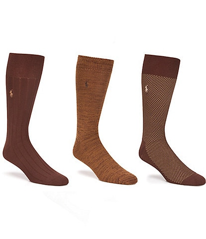 Polo Ralph Lauren Supersoft Birdseye Crew Socks 3-Pack