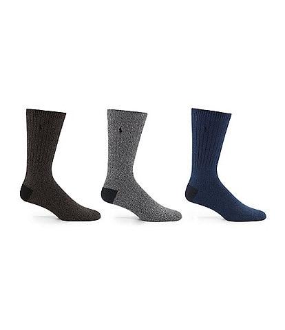 Polo Ralph Lauren Supersoft Ragg Crew Socks 3-Pack