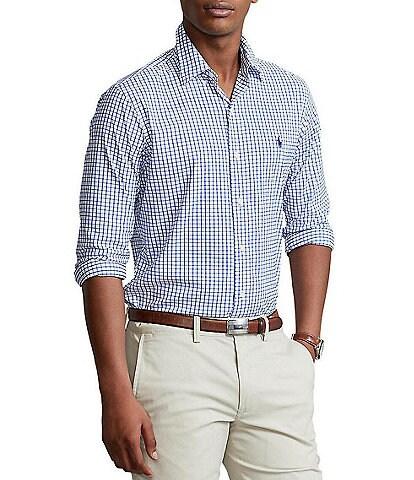 Polo Ralph Lauren Tattersall Twill Performance Stretch Long-Sleeve Woven Shirt
