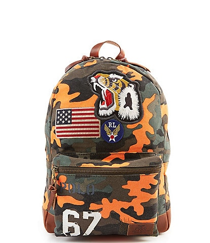 Polo Ralph Lauren Tiger-Patch Camo Canvas Backpack