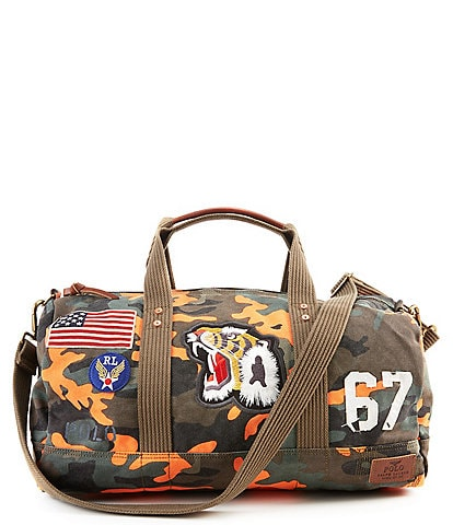 Polo Ralph Lauren Tiger-Patch Camo Canvas Duffel