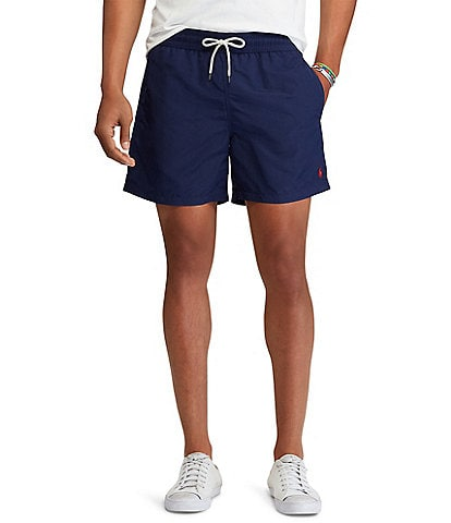Polo Ralph Lauren Traveler Solid 5 3/4#double; Inseam Swim Trunks