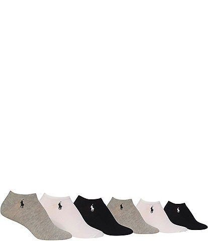 Polo Ralph Lauren Ultra Low-Cut Cushioned Sport Socks 6-Pack