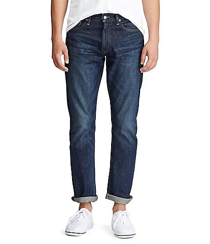 Polo Ralph Lauren Varick Slim-Straight Morris Dark Stretch Denim Jeans