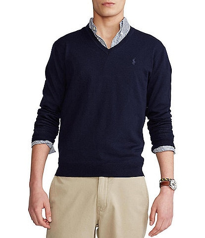 Polo Ralph Lauren Washable Merino Wool V-Neck Sweater
