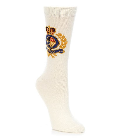 Polo Ralph Lauren Women's Knit In Crest Socks