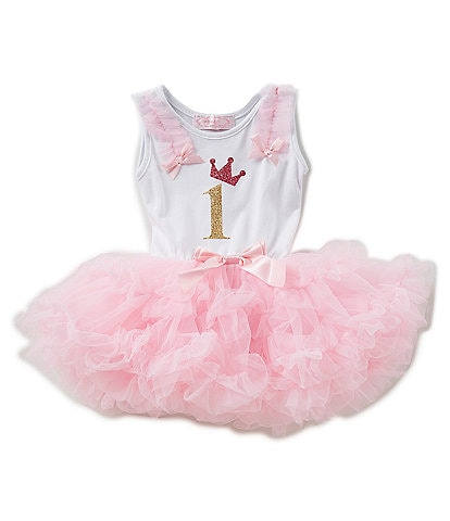 Popatu Baby Girls 12-24 Months First Birthday Tutu Dress