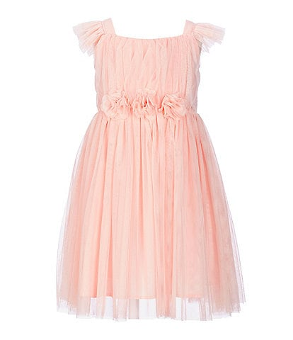 Popatu Little Girls 2-8 Flutter-Sleeve Tulle Dress