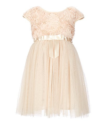 Popatu Little Girls 2-8 Soutache/Tulle Fit-And-Flare Dress