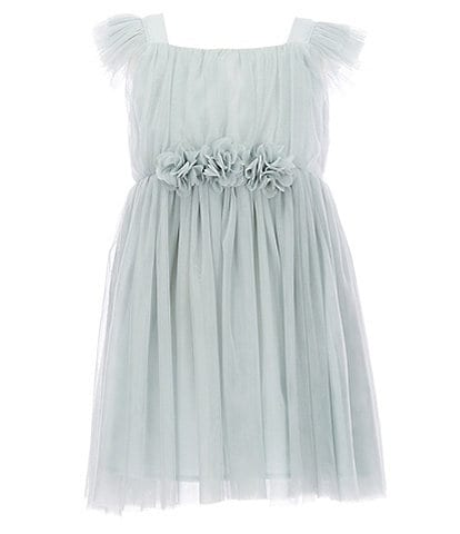 Popatu Little Girls 2-8 Tulle Flutter Sleeve Dress