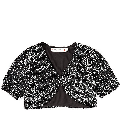 Poppies and Roses Big Girl 7-16 Sequin Shrug