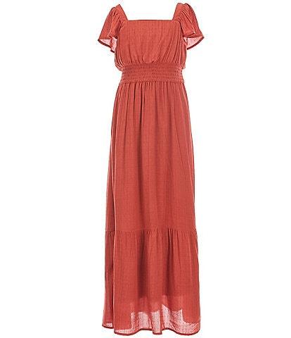 Poppies and Roses Big Girls 7-14 Clip-Dot Maxi Dress