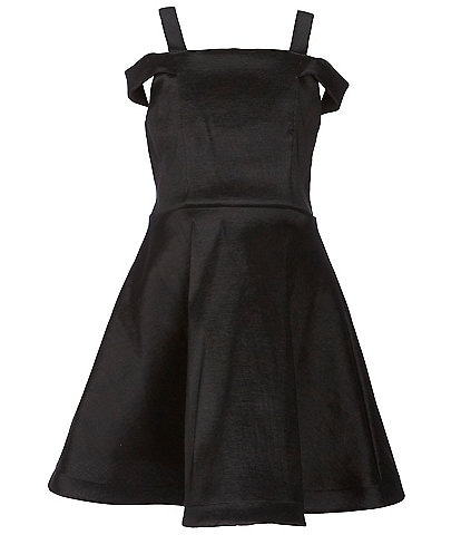 Poppies And Roses Big Girls 7-16 Bar-Back Tafetta Fit-And-Flare Dress