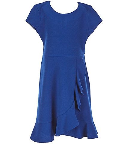 Poppies and Roses Big Girls 7-16 Ruffled Double-Hem Fit-And-Flare Dress