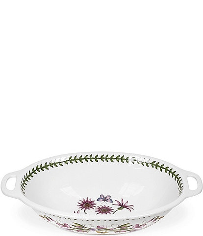 Portmeirion Botanic Garden Large Oval Handled Bowl