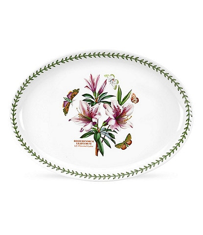 Portmeirion Botanic Garden Lily Flowered Azalea Platter/Oval Serving Dish