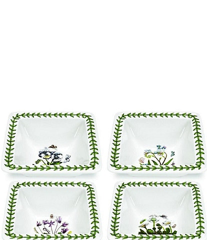 Portmeirion Botanic Garden Set of 4 Square Mini Bowls