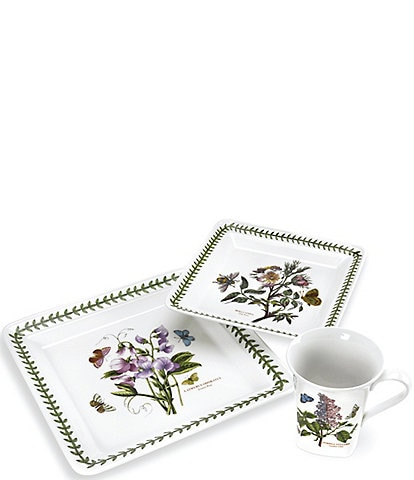 Portmeirion Botanic Garden Square 12-Piece Dinnerware Set