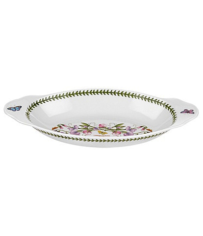 Portmeirion Botanic Garden Sweet Pea Oval Baking Dish with Handles