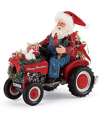Possible Dreams Country Living Santa & Tractor Figurine