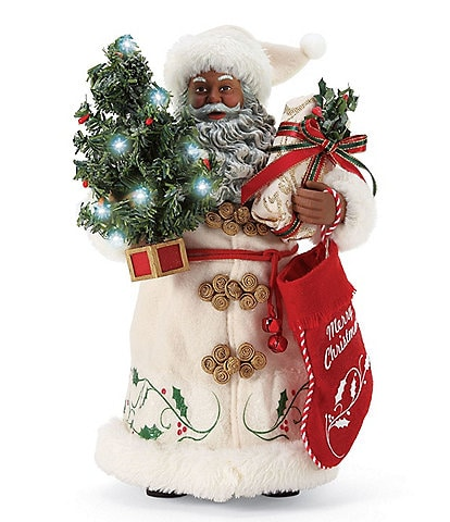 Possible Dreams Lighted A Christmas Tradition African American Santa Figurine