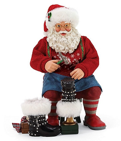 Possible Dreams New Boots Santa Figurine