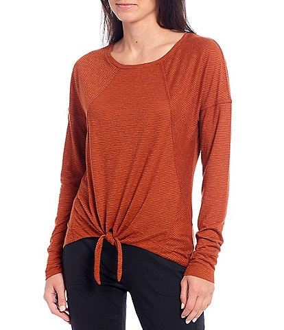 prAna Haddie Long Sleeve Knot Front Top