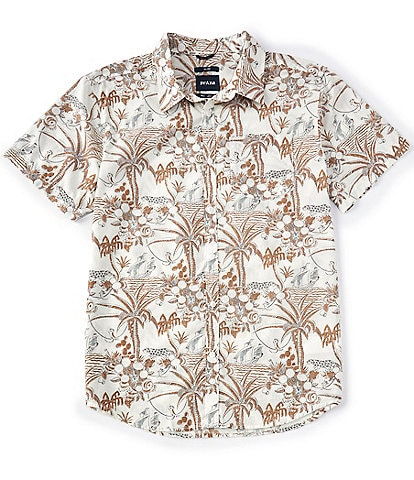 Prana Slim-Fit Stimmersee Short-Sleeve Organic Materials Woven Shirt