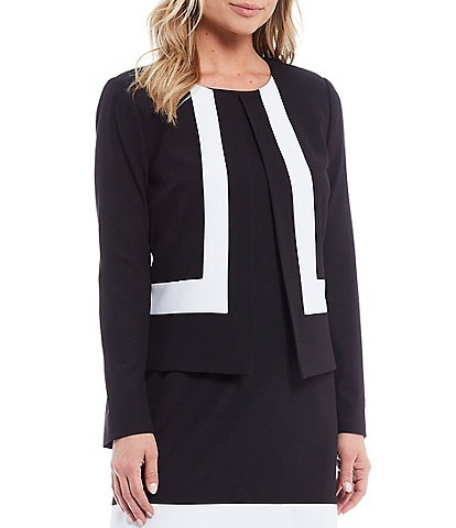 Preston & York Abbie Colorblock Stretch Crepe Blazer