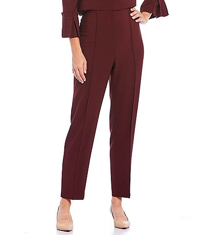 Preston & York Ava Flat Front Lightweight Stretch Crepe Pant