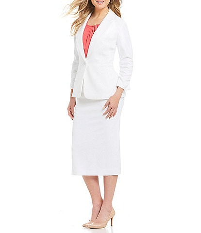 fc9a3aee4 Preston & York Crepe Suiting Gwen Jacket & Kelly Skirt