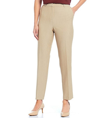 Preston & York Evelyn Heathered Suiting Straight Leg Ankle Pant