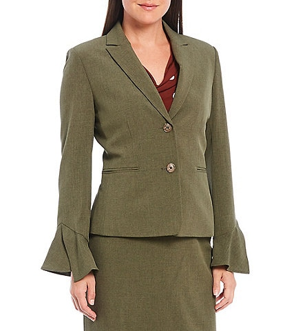 Preston & York Helena Ruffle Sleeve Blazer