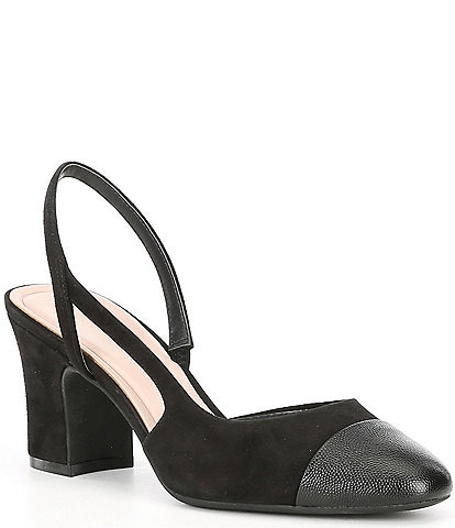 Preston & York Ines Sling Back Block Heel Pumps