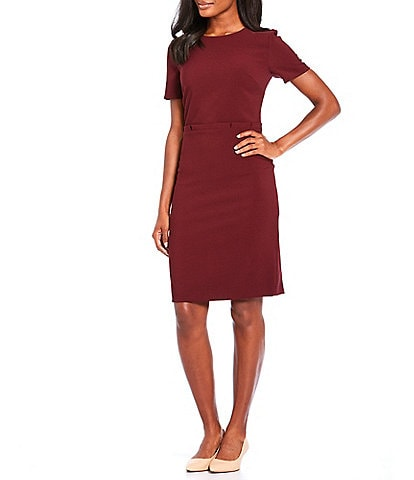 Preston & York Isabella Lightweight Stretch Crepe Short Sleeve Dress
