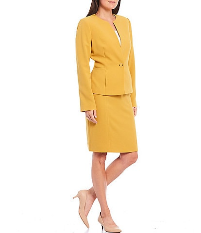 Preston & York Jillian Lightweight Stretch Crepe Blazer & Lana Side Darts Crepe Pencil Skirt