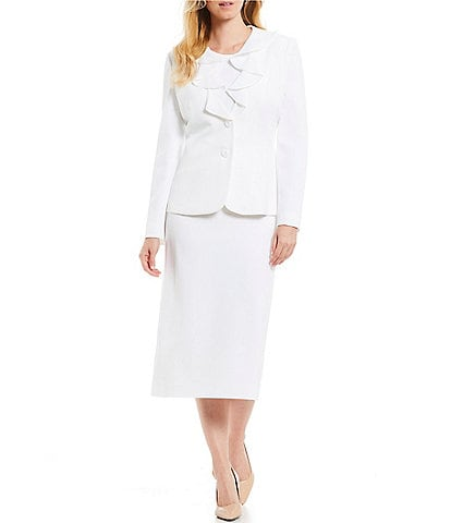 Preston And York White Women S Workwear Suits Office Attire