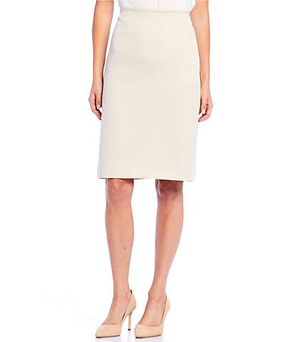 Preston & York Kelly Back Vented Solid Pencil Skirt