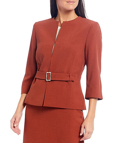 Preston & York Leigh Drape Suiting Belted Blazer