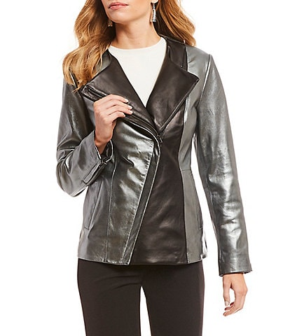 Preston & York Modern Moto Genuine Leather Jacket