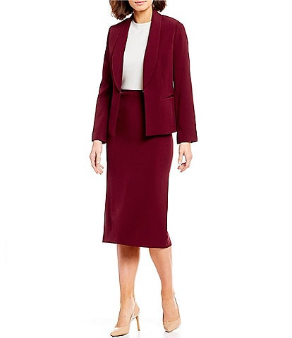 Preston & York Nellie Open Front Suiting Jacket & Taylor Midi Pencil Skirt