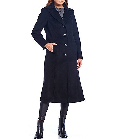 Preston & York Notch Collar Maxi Coat