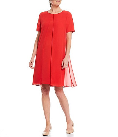 Preston & York Nova Chiffon Overlay Shift Dress