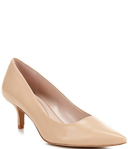 Preston & York Paula Leather Kitten Heel Pumps