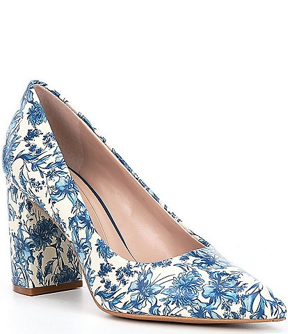Preston & York Payton Floral Block Heel Pumps