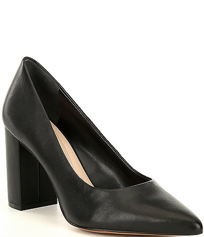 Preston & York Payton Leather Block Heel Pumps