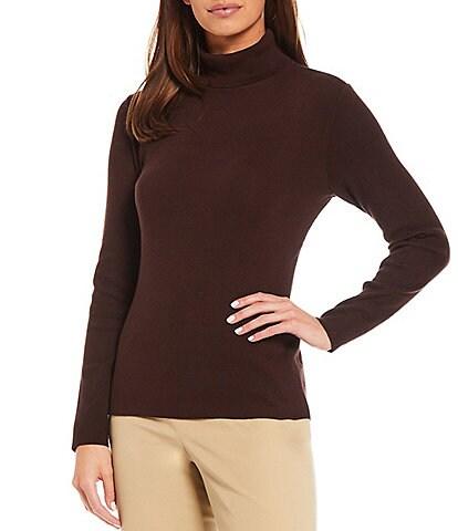 Preston & York Rachel Long Sleeve Turtleneck Pullover Knit Sweater