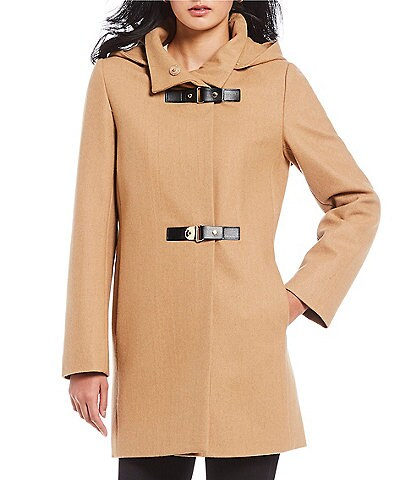 Preston & York Stand Collar Down Lined Wool Coat