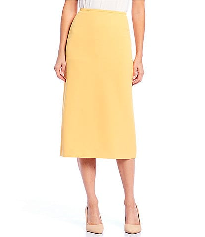 6d53989a6c Preston & York Taylor Crepe Midi Pencil Skirt