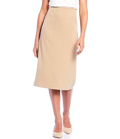 c2f4dd13a Preston & York Taylor Stretch Crepe Midi Skirt